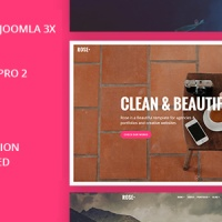Joomla Premium Template - Rose - Multipurpose Responsive One Page Joomla Theme