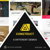 Windstripe Themes Joomla Template: Construct - Construction, Building Multipurpose Company Theme