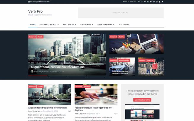 Wordpress Theme: Verb