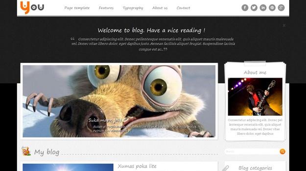 Wordpress Theme: SW You - Free responsive WordPress Theme