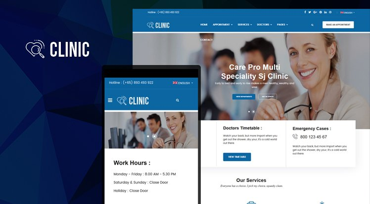 Joomla Template: Sj Clinic
