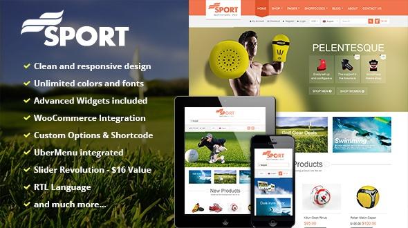 Wordpress Theme: SW Sport - Responsive WordPress Theme