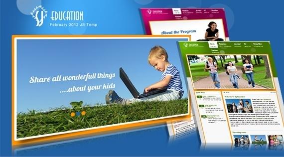 Joomla Template: SJ Education - VirtueMart Joomla template for education