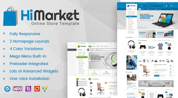 Wordpress Theme: HiMarket - Multipurpose WooCommerce WordPress Theme
