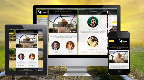 Joomla Template: SJ Atom - Responsive Joomla Template