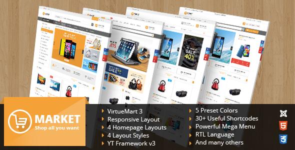 Joomla Template: SJ Market - Multlpurpose eCommerce Joomla Theme for VirtueMart 3