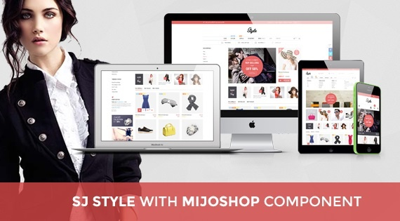 Joomla Template: SJ Style - Awesome Joomla template for MijoShop component