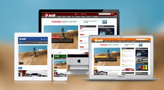 Joomla Template: SJ Tech - Responsive template for news portals