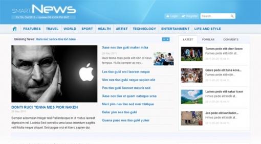 Joomla Template: Smart News - Free news portal Joomla template