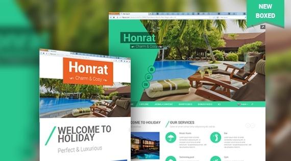 Joomla Template: SJ Honrat - Responsive Joomla Template for Resort and Hotel websites