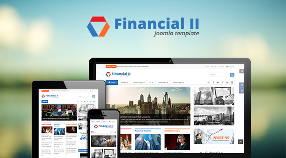 Joomla Template: SJ Financial II - Responsive Business Joomla Template