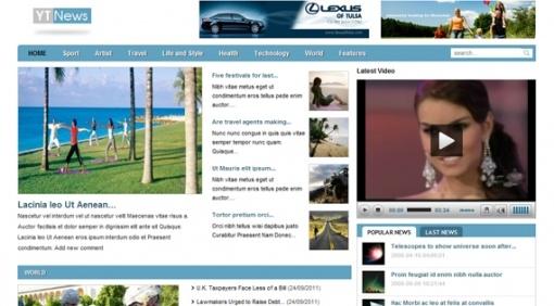 Joomla Template: YT News - Free news portal Joomla template