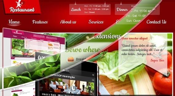 Joomla Template: SJ Restaurant - Best of Joomla restaurant template