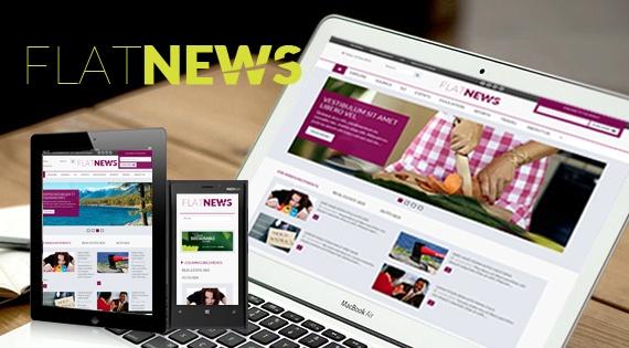 Joomla Template: SJ Flat News - Responsive Joomla Template