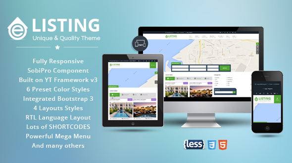 Joomla Template: SJ eListing - Stunning Real Estate Joomla Template