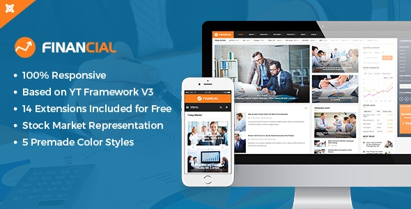 Joomla Template: SJ Financial III - Responsive Business & Financial Joomla Template