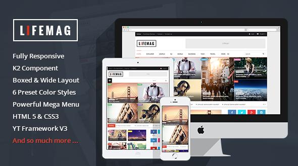 Joomla Template: SJ LifeMag - Best News/Magazine Joomla 3.x Template