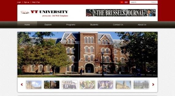 Joomla Template: YT University - Best Joomla template for school and education