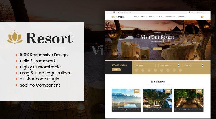 Joomla Template: Sj Resort II