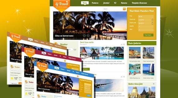 Joomla Template: SJ Travel II - Joomla travel template with Kunena supported