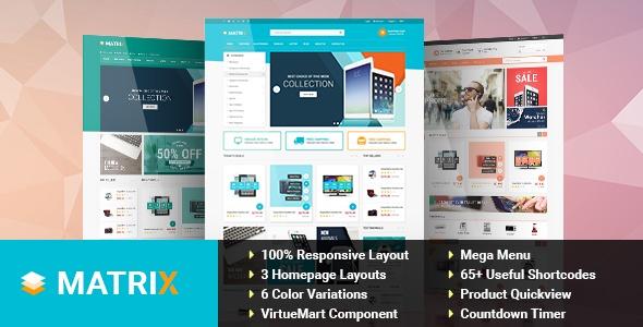 Joomla Template: SJ Matrix - Professional eCommerce Joomla Template