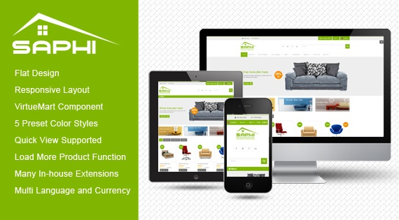 Joomla Template: SJ Saphi - Luxury Online Store Joomla Template for VirtueMart