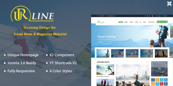 Joomla Template: SJ Urline - Premium Joomla Travel Template
