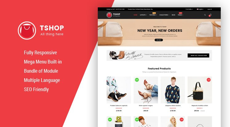 Opencart Template: So TShop