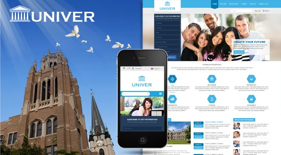 Joomla Template: SJ Univer - Responsive educational template with flat design