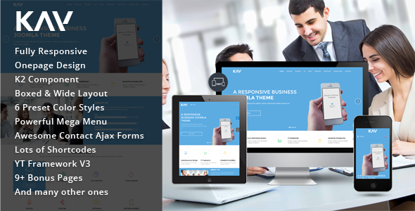 Joomla Template: SJ Kay - Awesome Responsive Joomla Theme for Business Sites