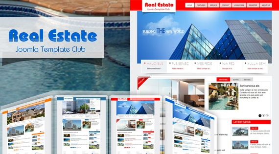 Joomla Template: SJ Real Estate - Creative Real Estate Joomla template