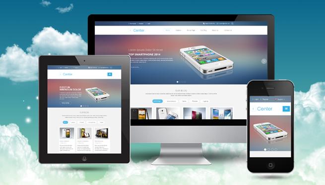 Joomla Template: SJ iCenter - Responsive technology template with flat design