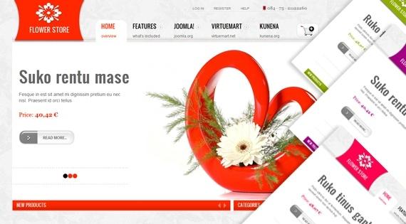 Joomla Template: SJ Flower Store - Professional ecommerce Joomla template