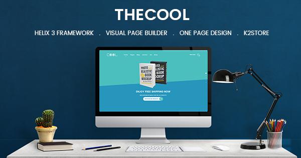 Joomla Template: SJ TheCool - Responsive One Page Book Store Joomla Template