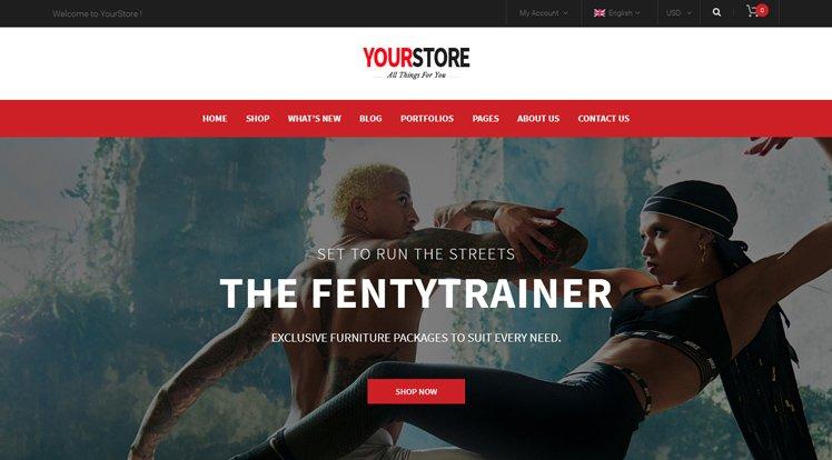 Wordpress Theme: YourStore Free