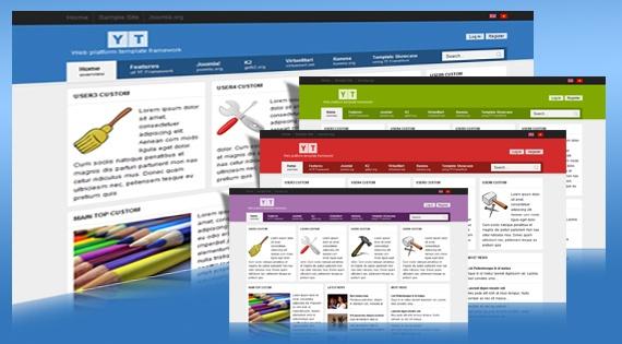 Joomla Template: YT Framework - Free professional Joomla template