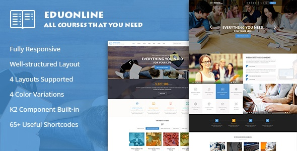 Joomla Template: SJ Eduonline - Multipurpose Business Joomla Template