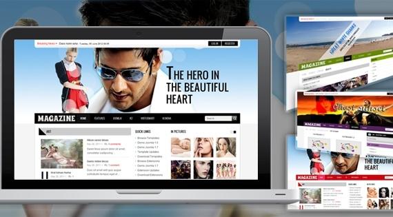 Joomla Template: SJ Magazine - Elegant news portal Joomla template