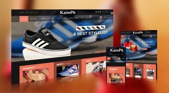 Joomla Template: SJ Kampe - eCommerce responsive Joomla Template with HikaShop