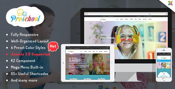 Joomla Template: SJ Preschool - Multipurpose Kid Education Joomla Template