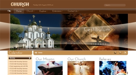 Joomla Template: SJ Church - AWesome Joomla template for Churches
