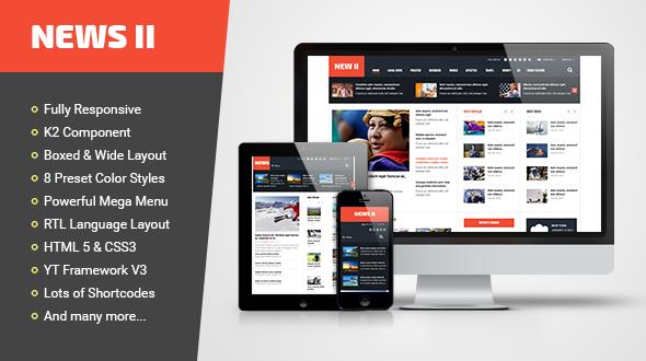 Joomla Template: SJ News II - Best Free Resposive News Joomla Template