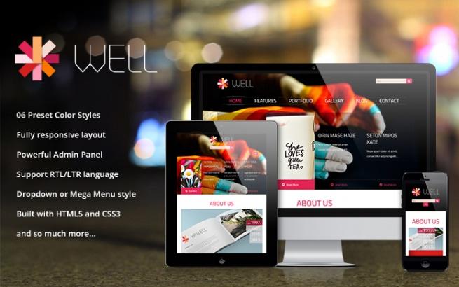 Wordpress Theme: SW Well - Responsive WordPress Theme