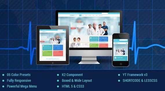 Joomla Template: SJ Healthcare - Awesome Healthcare/Medical Joomla Template