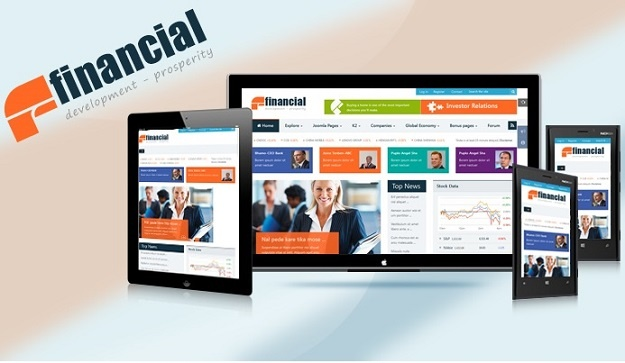 Joomla Template: SJ Financial - Solution for large portals and busy websites