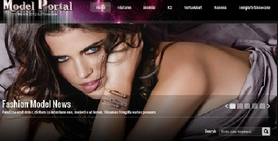 Joomla Template: SJ Model - Joomla news template with VirtueMart