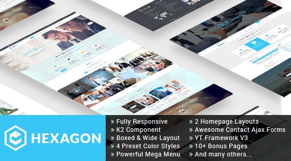 Joomla Template: SJ Hexagon - Awesome Business/Corporat Joomla Template