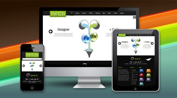 Joomla Template: SJ Me - The best onepage layout for personal site