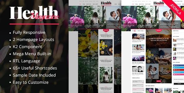 Joomla Template: SJ HealthMag - Responsive News Portal Joomla Template
