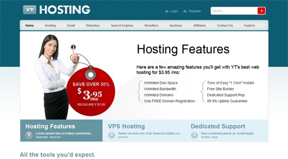 Joomla Template: YT Hosting - Business and hosting Joomla template